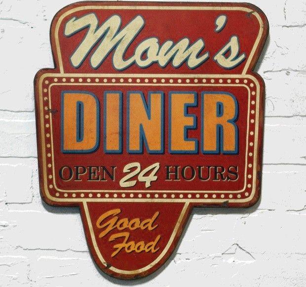 """""""Mom's Diner""""  Wood Sign"""
