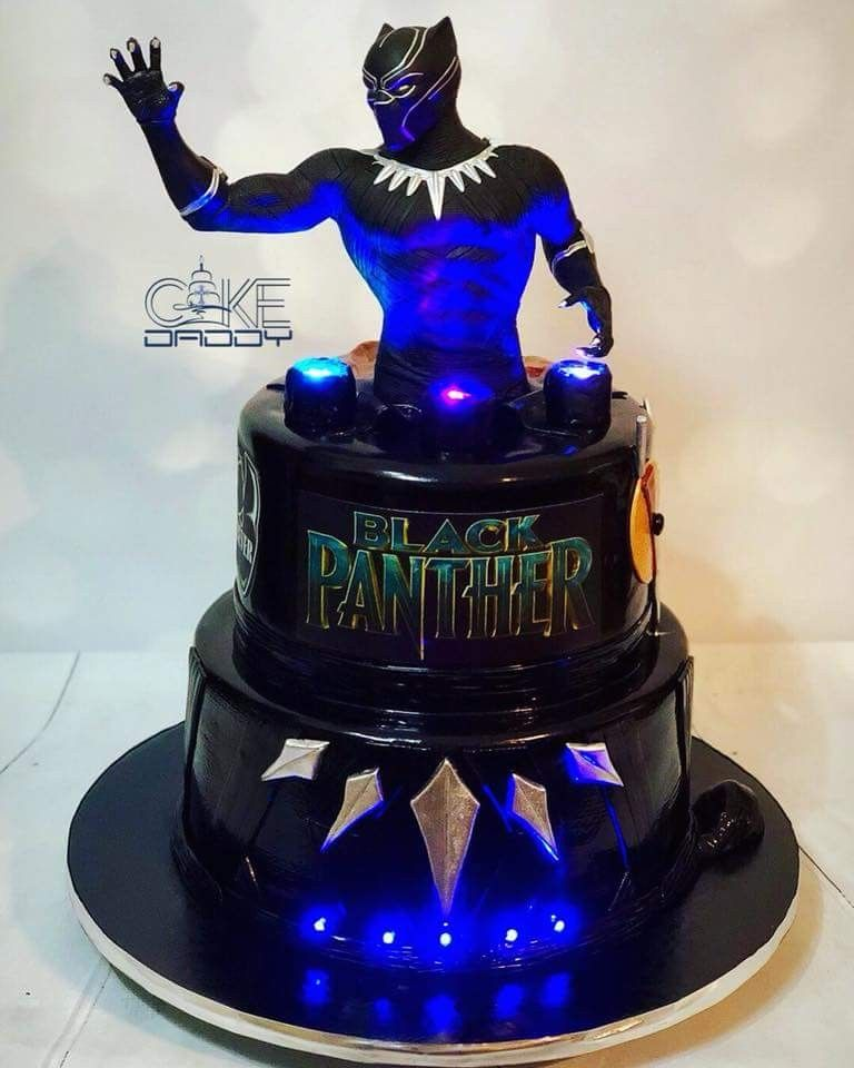 Jacobs 8th Superhero Birthday Cake Black Panther Party