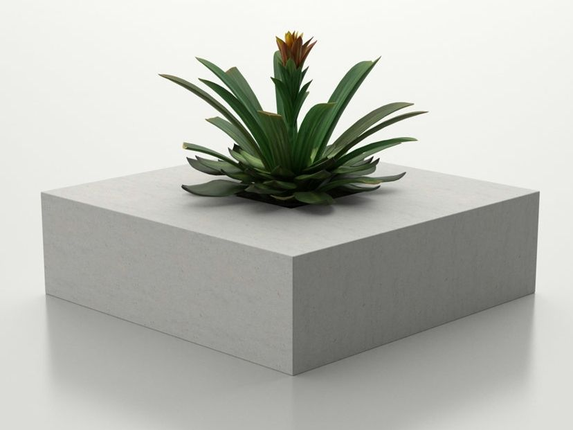 concrete flower pot square basic collection by sit urban. Black Bedroom Furniture Sets. Home Design Ideas