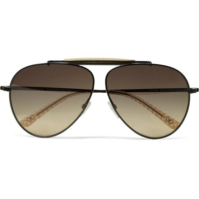 24ce92fa066 Metal Aviator Sunglasses by Bottega Veneta
