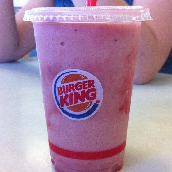 Strawberry Banana Real Fruit Smoothie Burger King