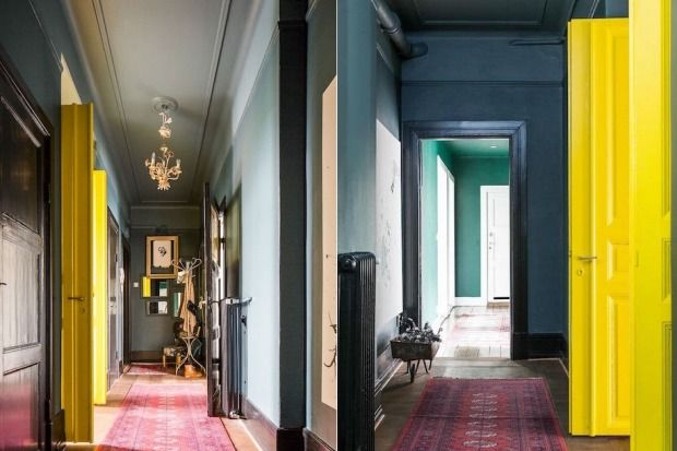 Inky walls and moody hues are on trend as interior design goes back