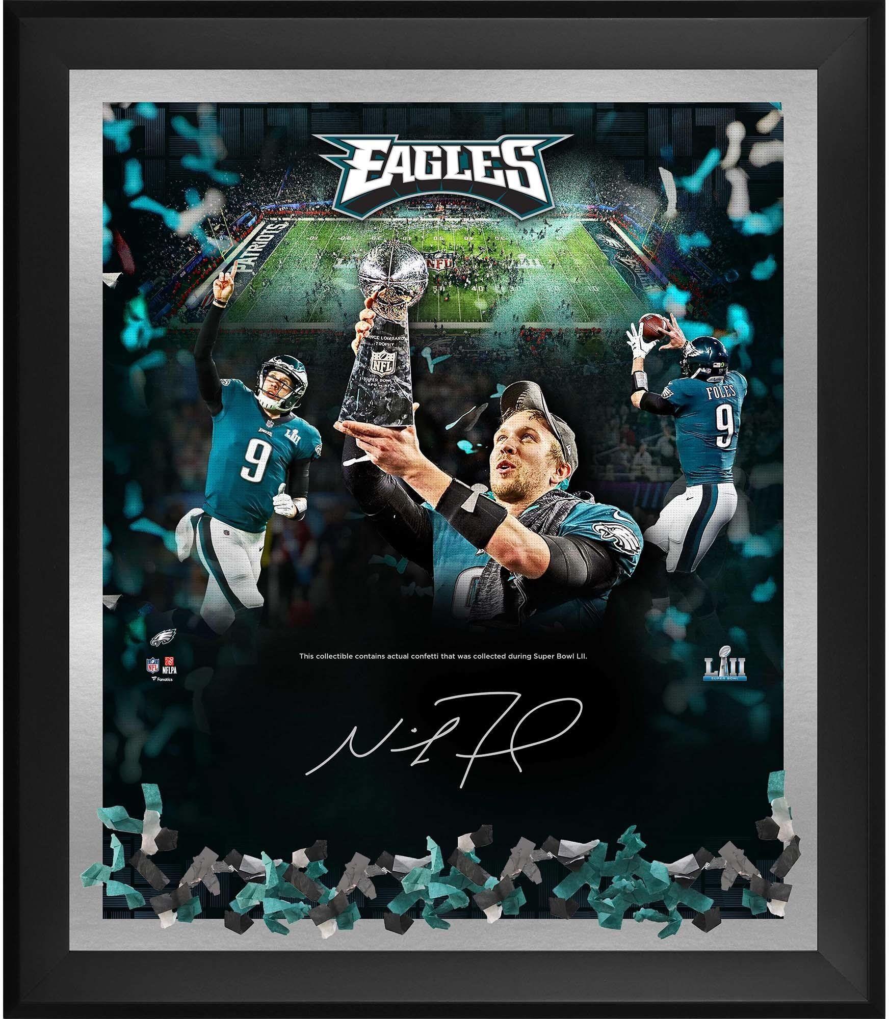 Nick Foles Philadelphia Eagles Framed Autographed Super