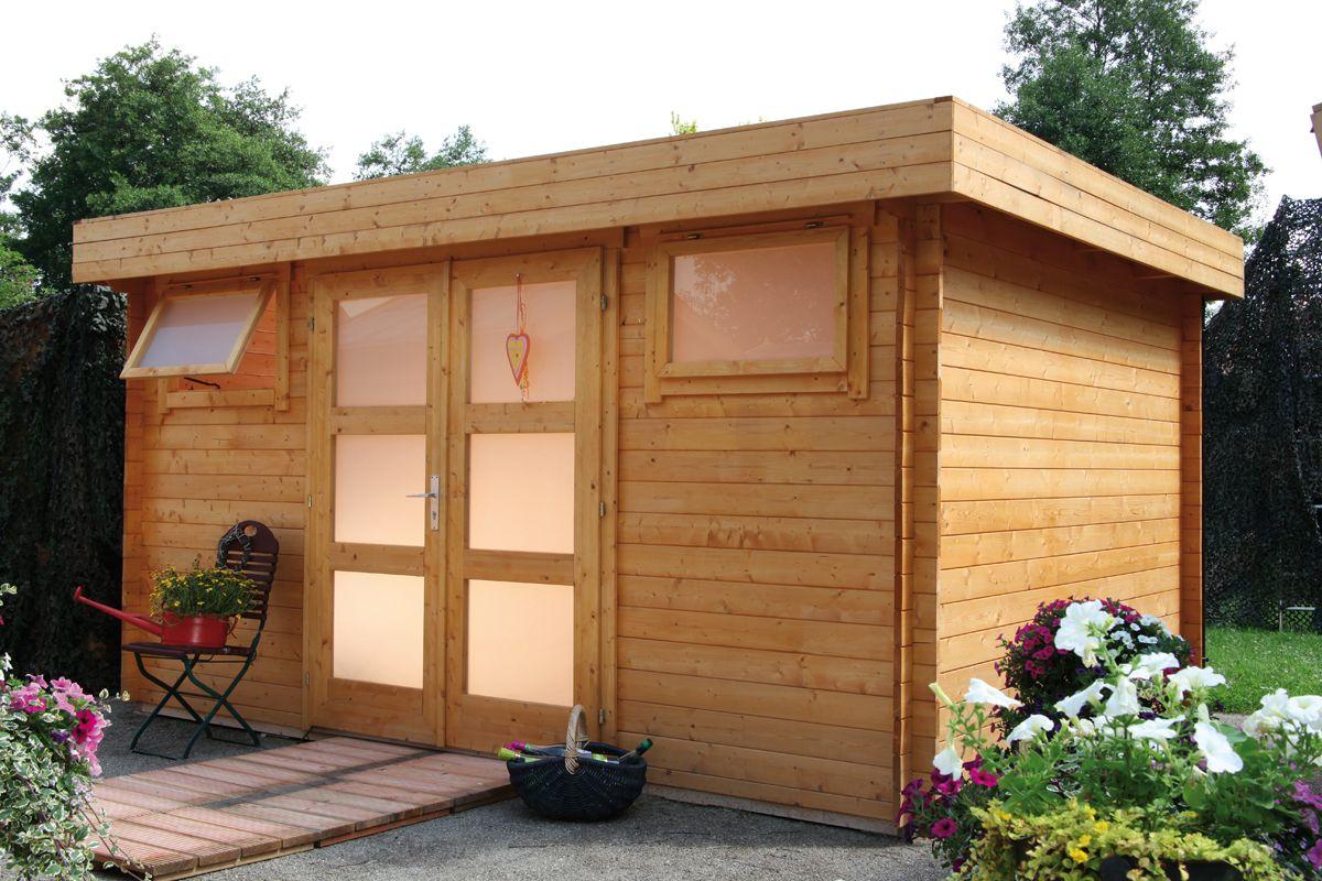 Flachdach Gartenhaus Metz C ist ideal zur Aufbewahrung von