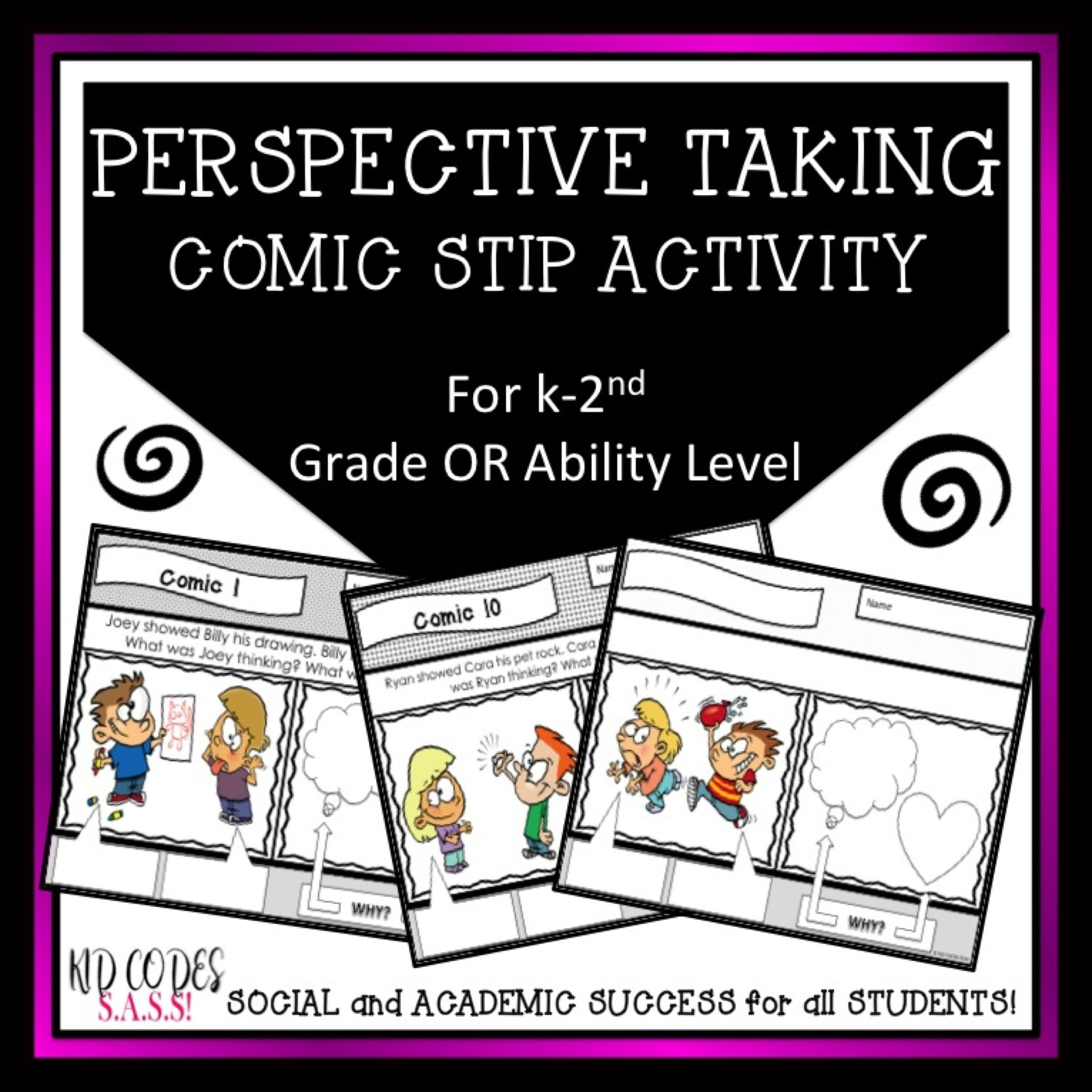 Perspective Taking And Social Skills Comic Strip Activity
