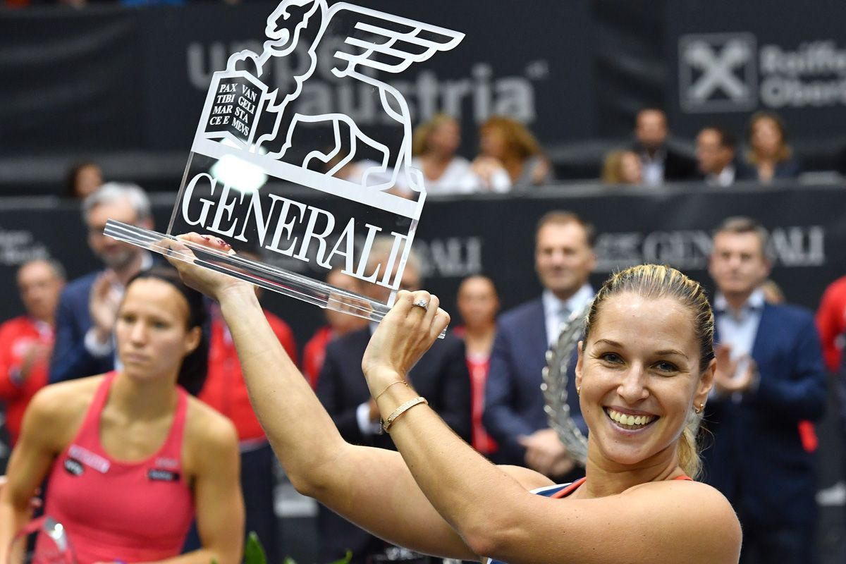 Dominika Cibulkova, víťazka turnaja WTAv Linzii  okt2016