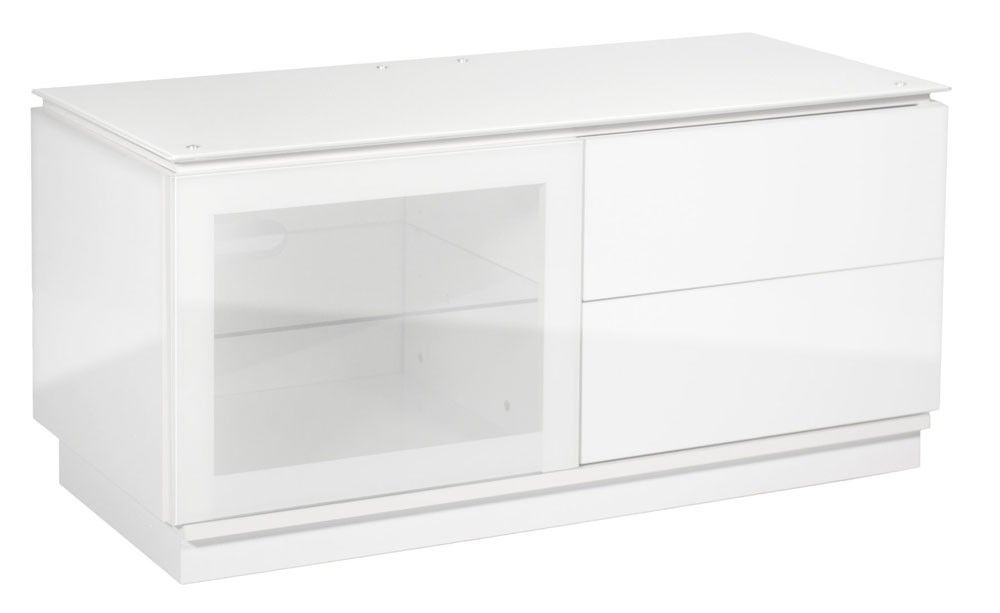 MMT Casino 1100 Gloss White TV Cabinet 1100mm Wide