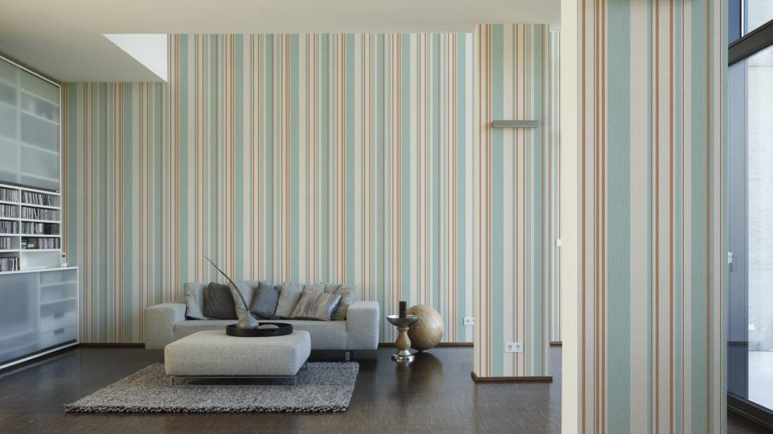 AS Création Tapete 273321; simuliert auf der Wand Zolderkamer - retro tapete wohnzimmer