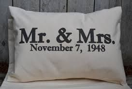 Gift ideas for the Groom and Bride, alongside their date of marriage                                                                                                                                                      More