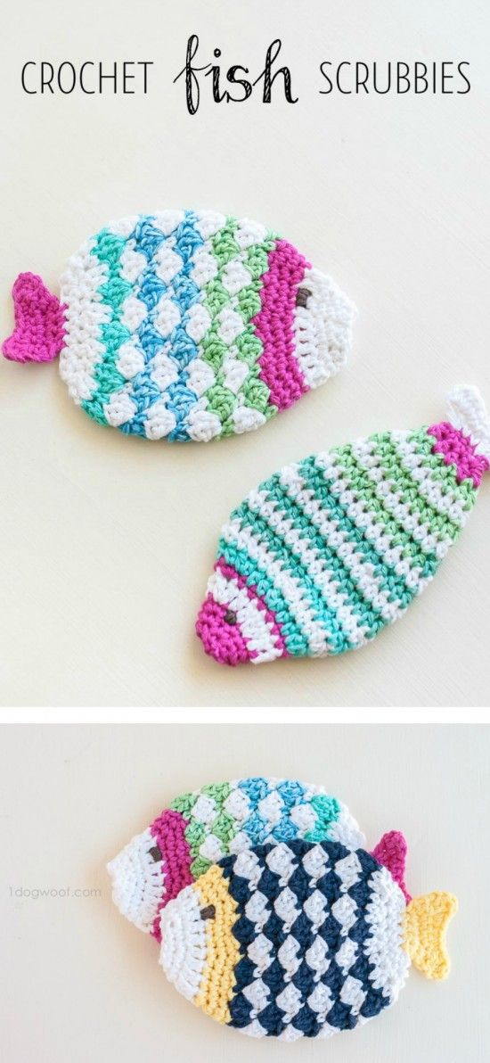 Crochet Scrubbies Free Patterns Top Pins Free Crochet Fish And