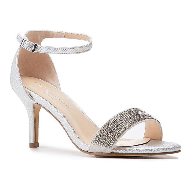Silver low heels, Wide fit sandals