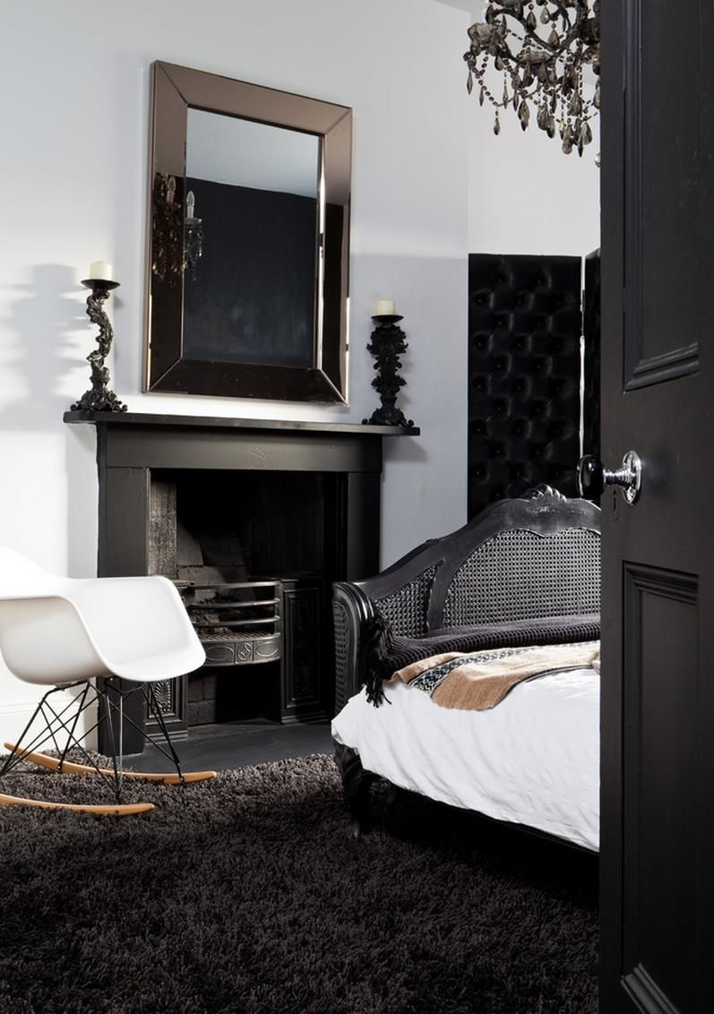 Create Drama With Black Carpets And Rugs Black Carpet Bedroom Black Bedroom Design Elegant Bedroom