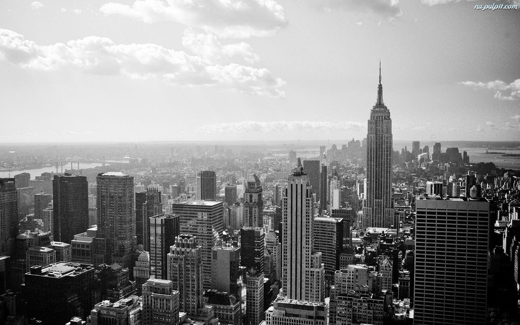 Httptapeta zdjecie nowy jork czarno biale pulpit new york city empire state building black and white hd wallpaper voltagebd Images