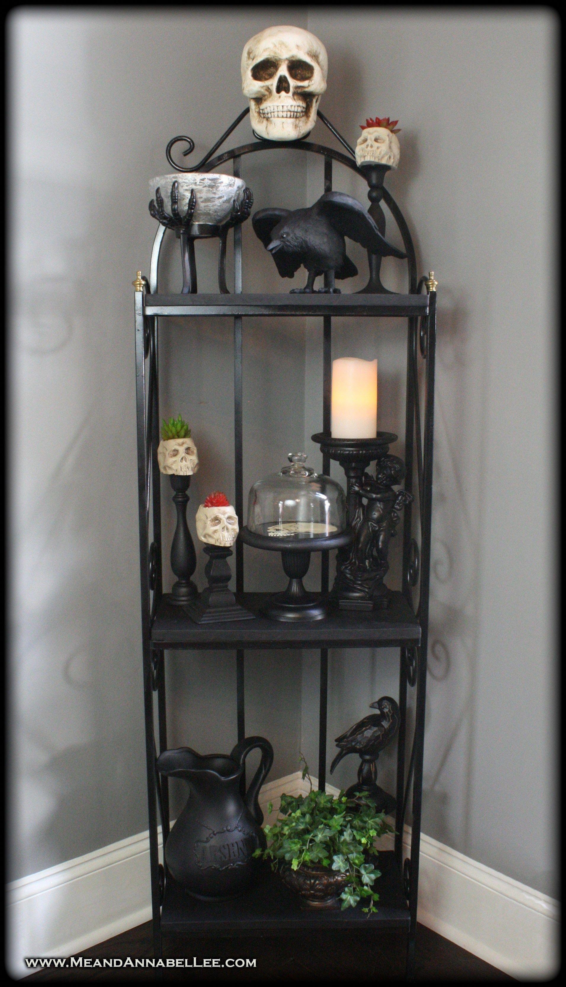 DIY Gothic Skull Baker's Rack Shelf Goth It Yourself
