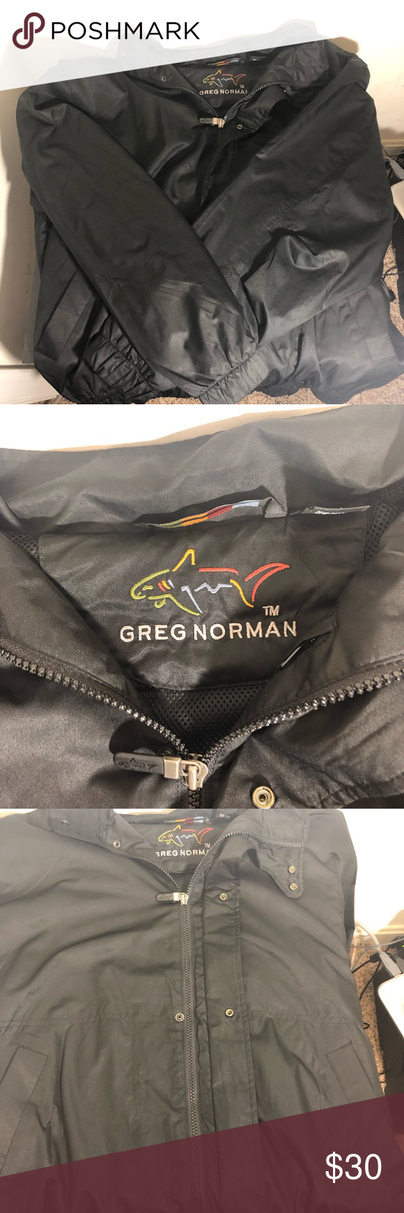 Men S Greg Norman Windbreaker Zip Up Size M Men S Greg Norman Windbreaker Zip Up Size Medium Great For Golf Size Medium But R Zip Ups Windbreaker Greg Norman
