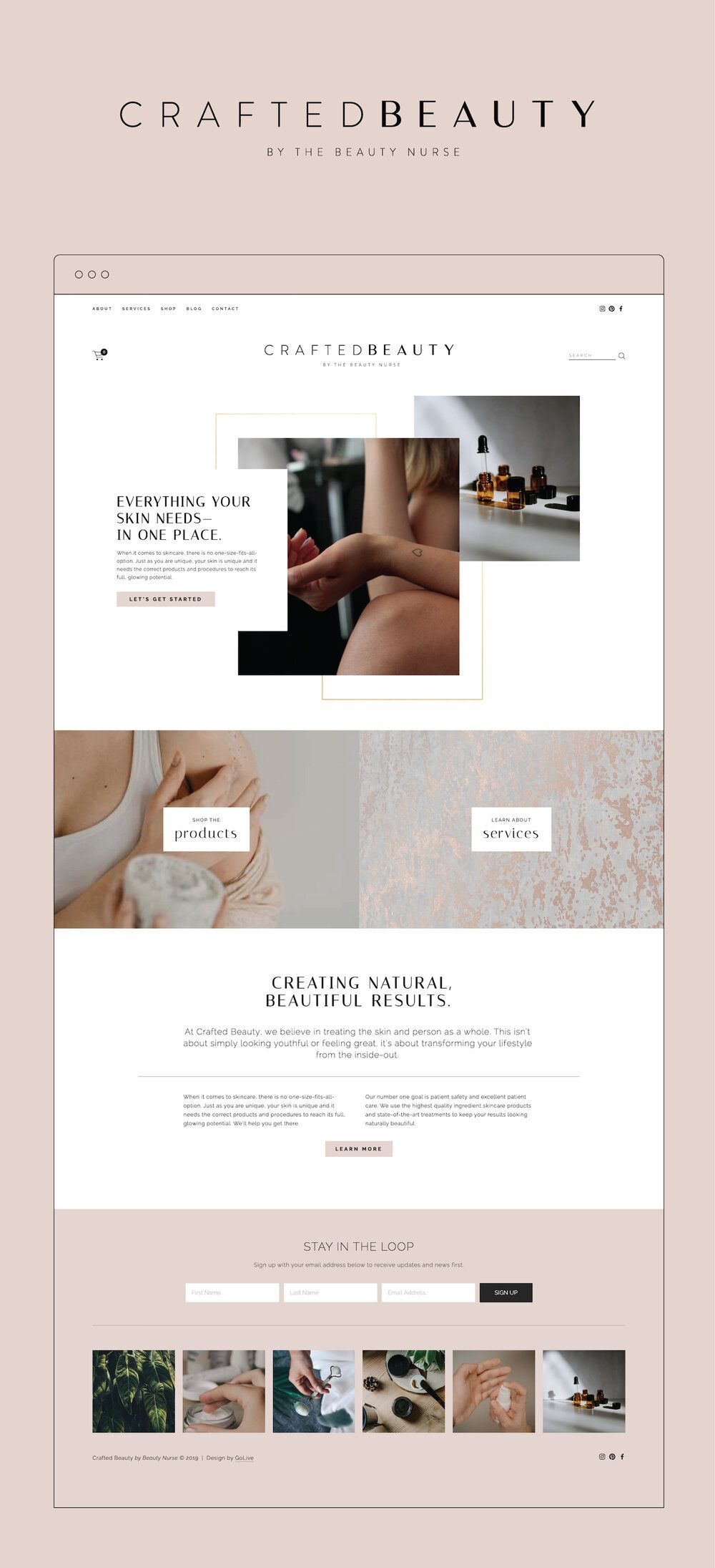 Squarespace Website For Skincare Clinic In 2020 Branding Website Design Squarespace Website Templates Website Layout Template