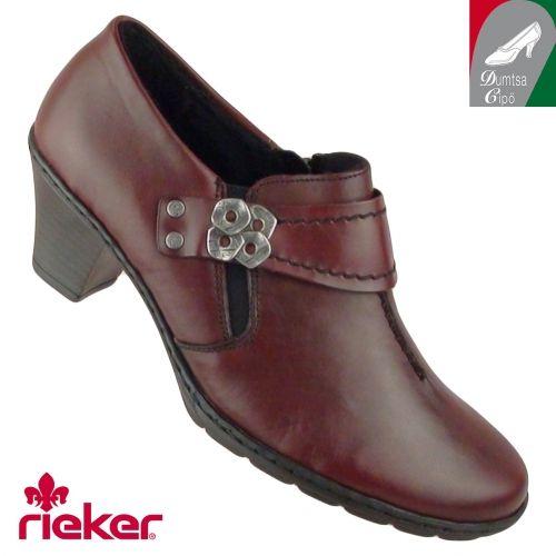 Rieker női bőr cipő 57152-35 bordó  0c2a045c98