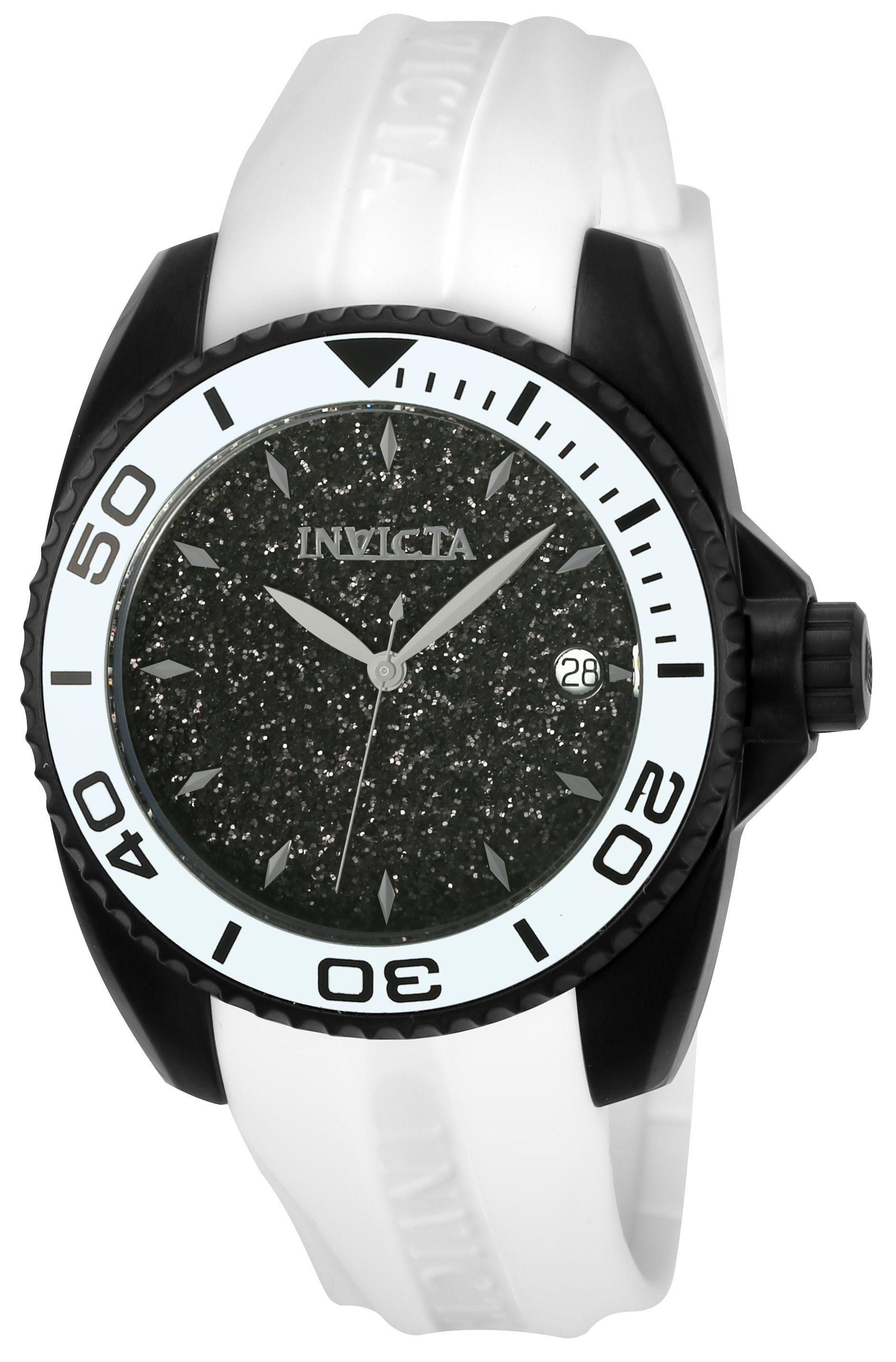 Invicta Womenus Angel Quartz Hand Black Dial Watch