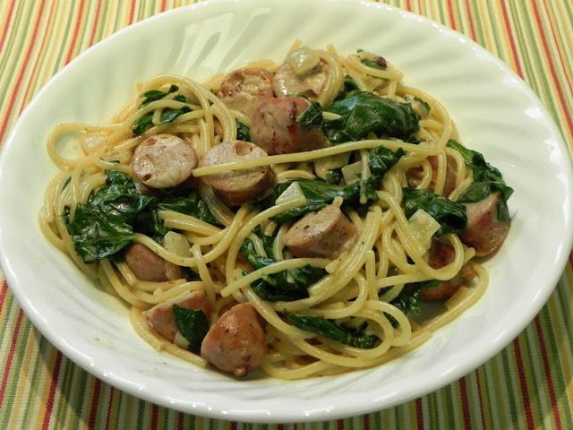 Family Favorites...Vermicelli with Sausage and Spinach