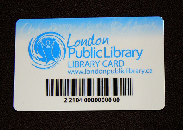 Library Card  London Public Library Canada  Library Cards And