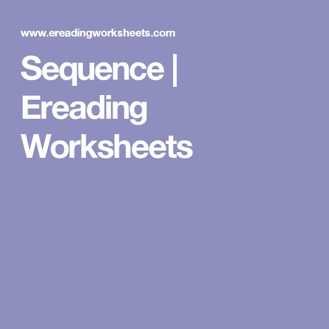 Sequence Ereading Worksheets Genre Activities Genre Study Genres Ereading worksheets work well on tablets and phones. pinterest