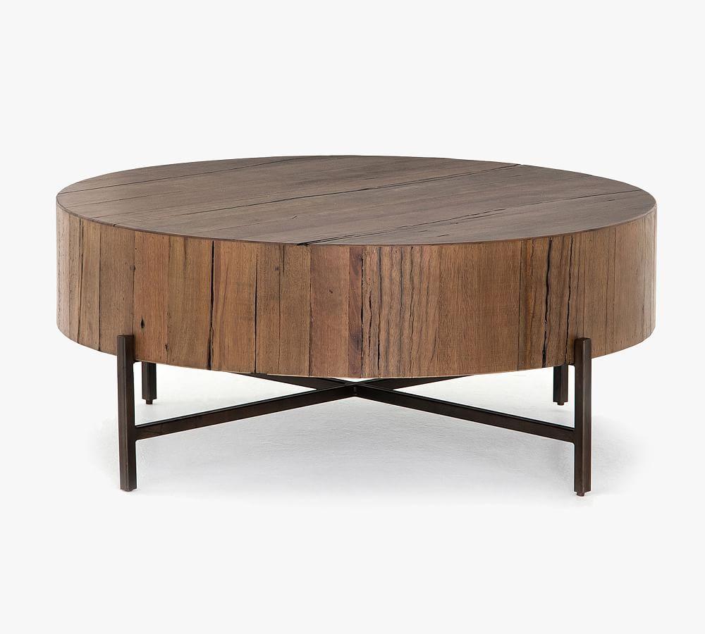 Fargo 40 Round Reclaimed Wood Coffee Table Coffee Table Wood Round Wood Coffee Table Reclaimed Wood Coffee Table [ 900 x 1000 Pixel ]
