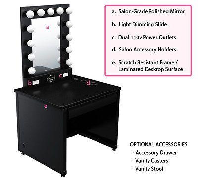 broadway lighted vanity makeup desk makeup desk vanities and desks