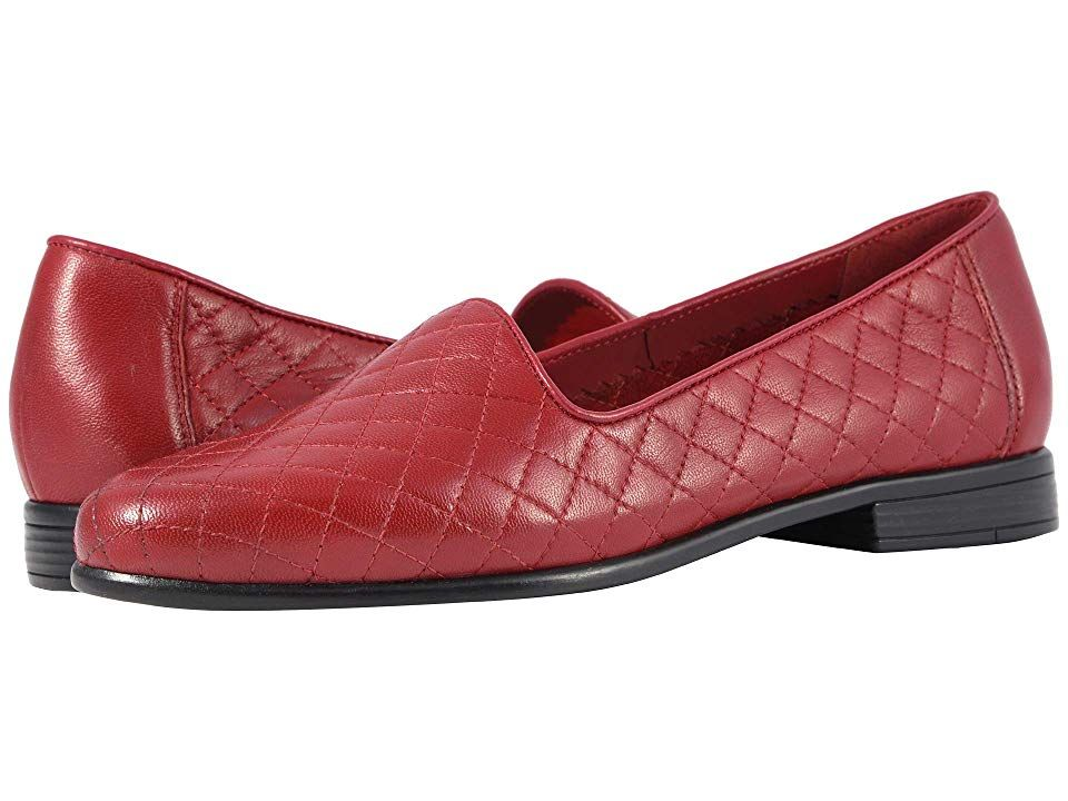 0e16fb4edc1 Trotters Liz (Dark Red Soft Quilted Leather) Women s Shoes. The sleek  versatile Liz