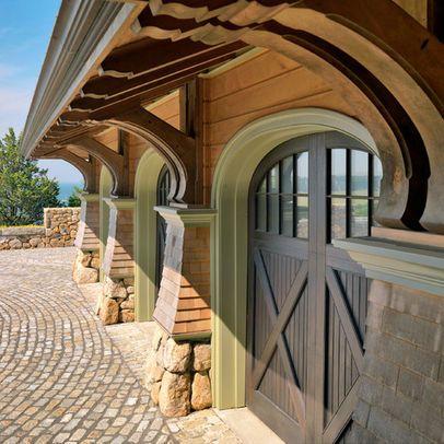 Arch Brackets Cross Panel Beadboard Top Garage Doors