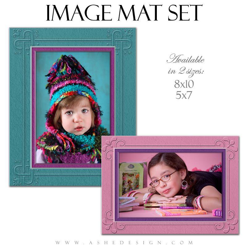 Image Mat Set (5x7 & 8x10) Framed Frame, Collage