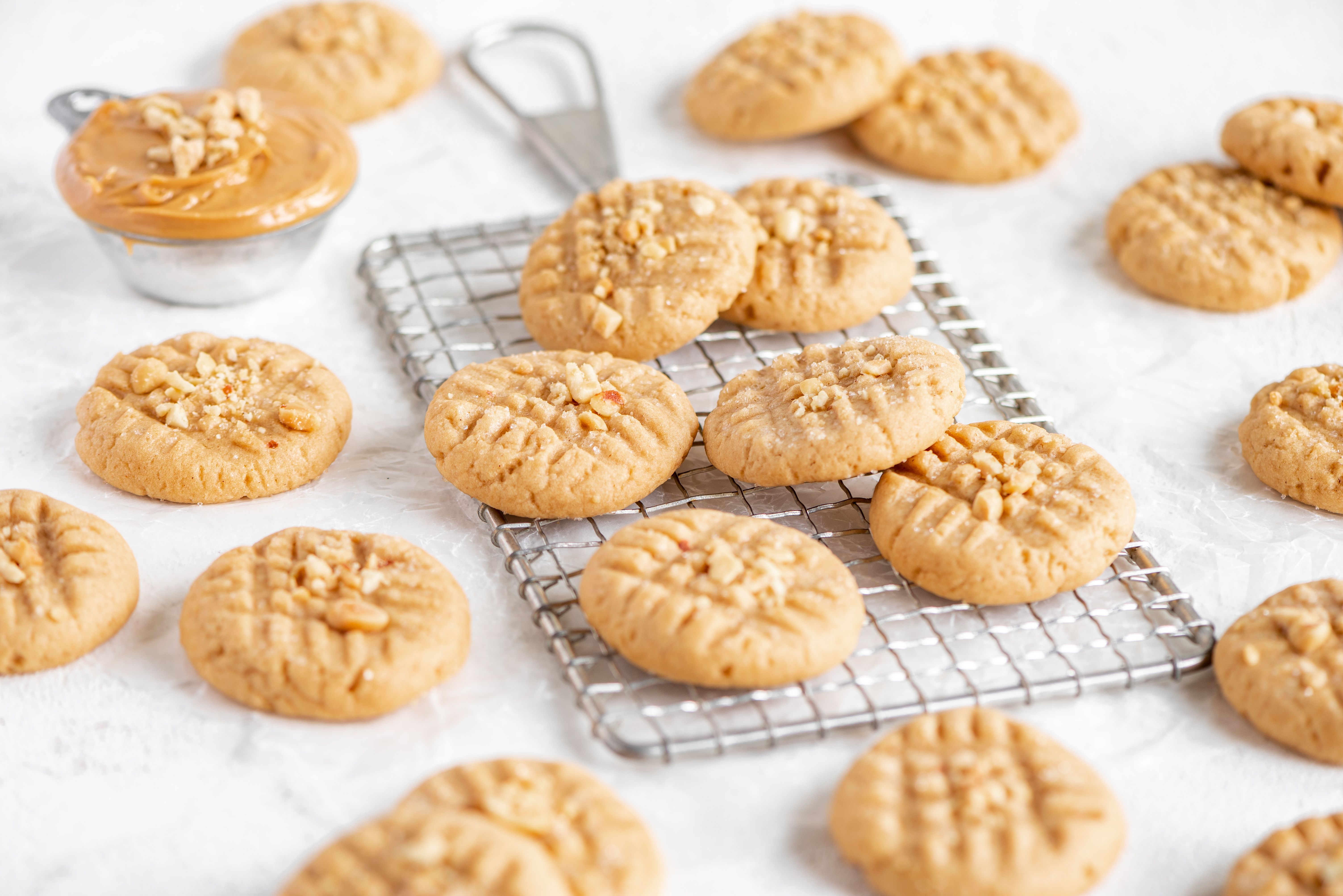 Peanut Butter Cookies Recipe In 2020 Sour Cream Cookies Peanut Butter Cookie Recipe Peanut Butter Cookies