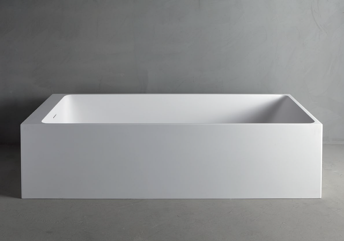 Charming Rectangular Mineralmarmo® Bathtub SQUARE By RIFRA