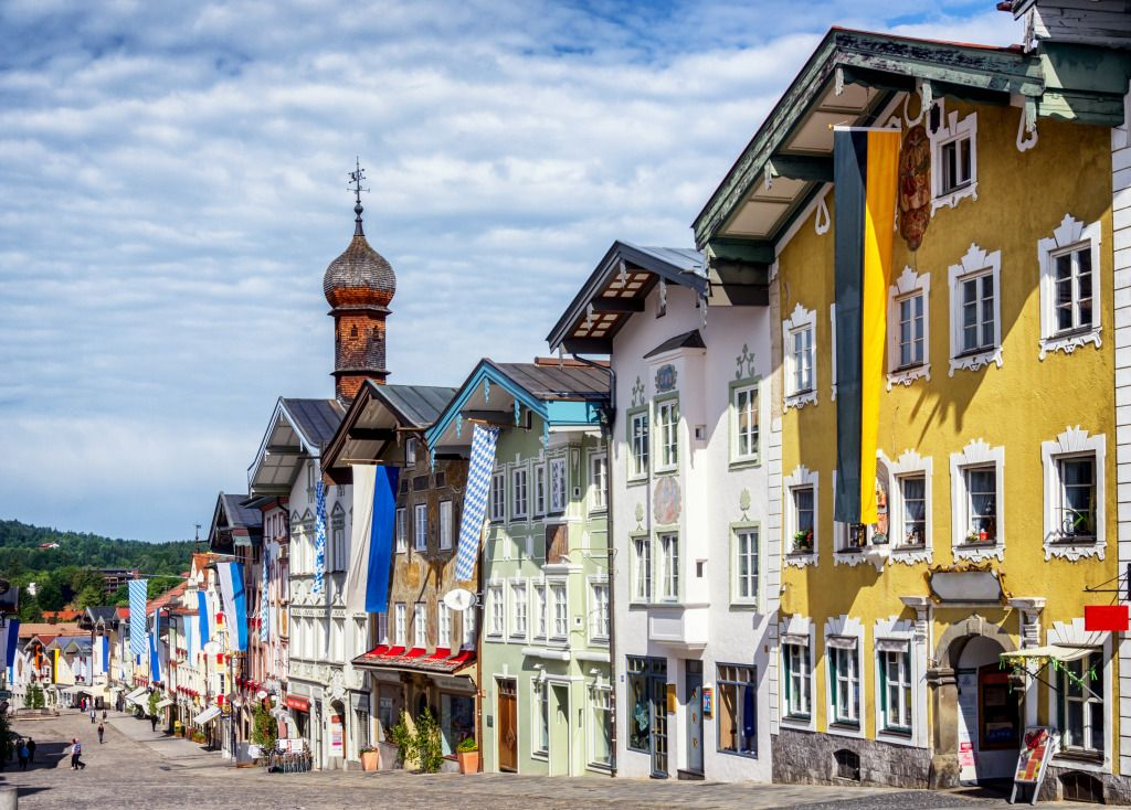 old town of bad toelz germany jigsaw puzzle in street view puzzles on. Black Bedroom Furniture Sets. Home Design Ideas