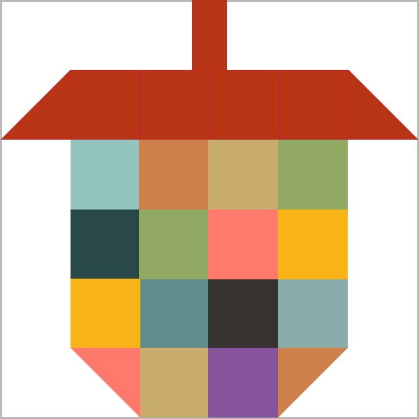 Just added this Scrappy acorn quilt block to my online block ... : quilt block library - Adamdwight.com