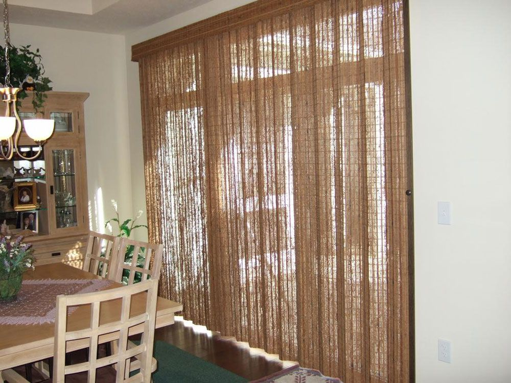 Calming And Delightful Rattan Sliding Glass Door Blinds Tracks