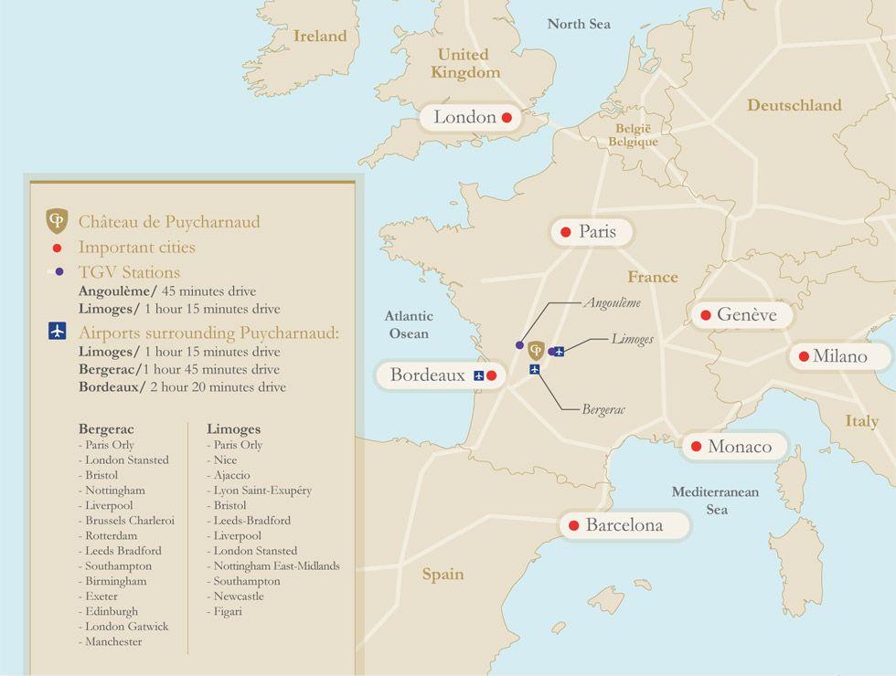 Château de Puycharnaud - Location Map | Château de Puycharnaud ...