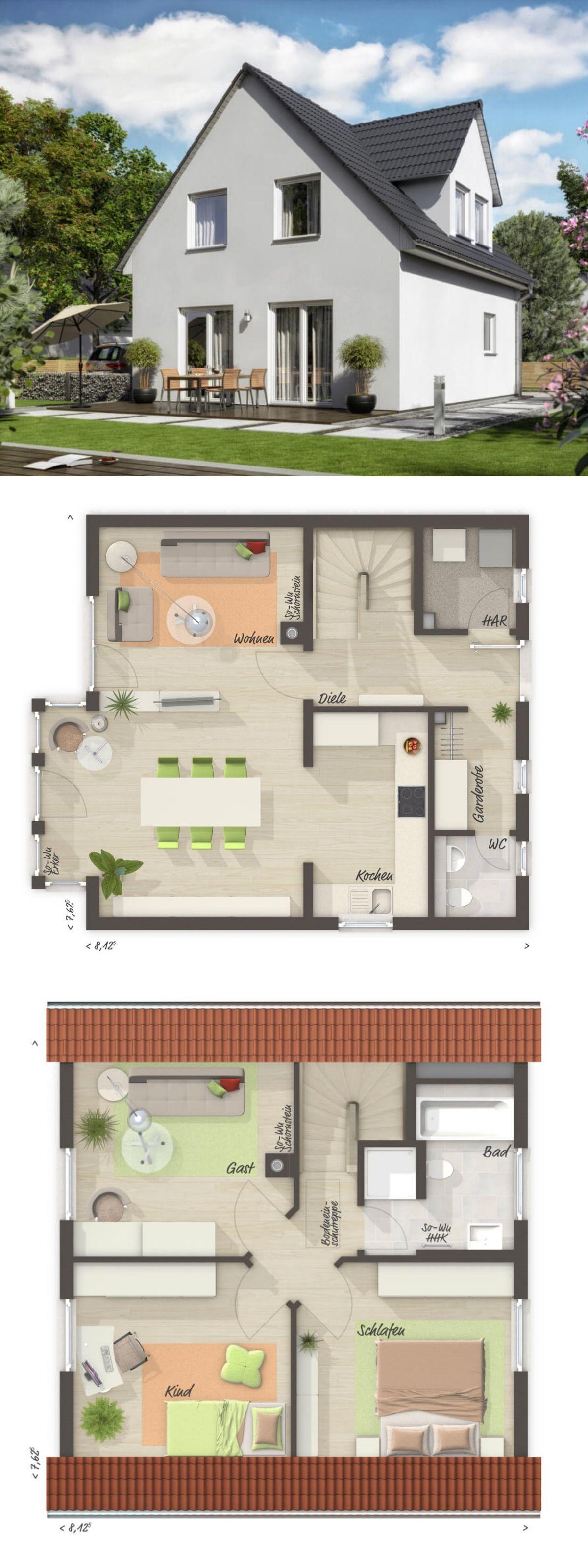 Einfamilienhaus neubau modern grundriss klassisch mit for Grundriss neubau einfamilienhaus