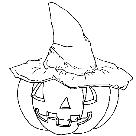 Dessin halloween citrouille a colorier halloween for A l interieur d une citrouille