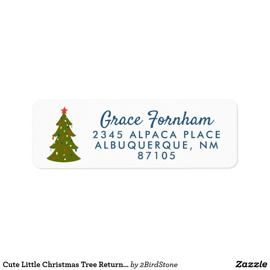 cute little christmas tree return address label nice looking