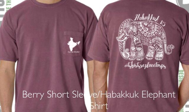 Berry Comfort Colors Elephant Shirt-Proceeds Help Children in Need and Posted Here so YOU Can Make a Difference! Repin This-Fall Fashion For Good! Share God's Love in India!