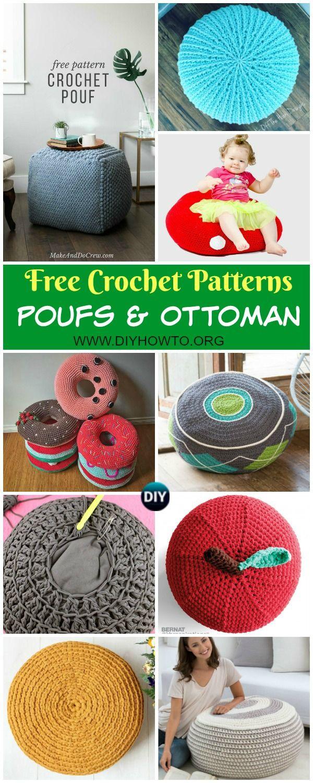 Collection of Crochet Poufs & Ottoman Free Patterns & DIY Tutorials ...