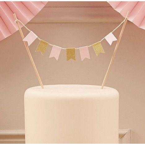 Tortendeko Babyshower Kuchengirlande für Junge oder Mädchen Partydeko