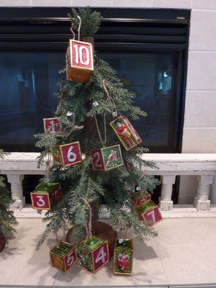 POTTERY BARN Twelve Days of Christmas METAL VINTAGE ...
