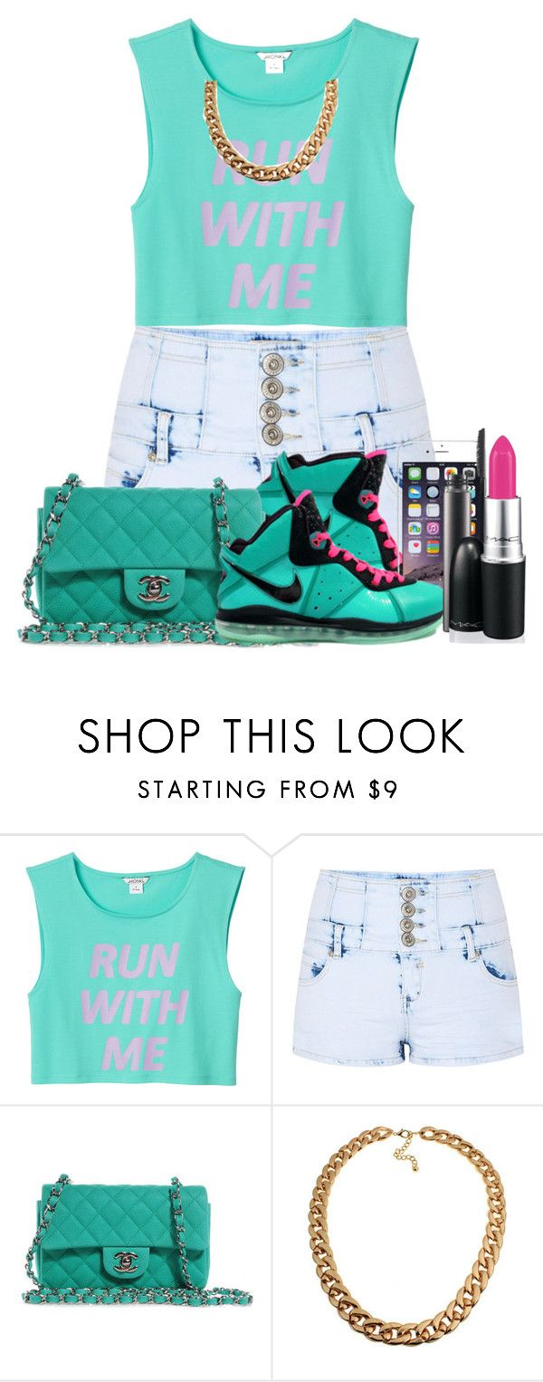 """Untitled #96"" by mimicherelus ❤ liked on Polyvore featuring Monki, Parisian, NIKE, Chanel and MAC Cosmetics"