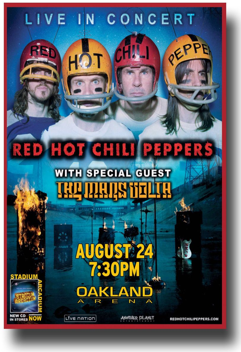 Red Hot Chili Peppers Poster A Concert On The Stadium Arcadium Tour