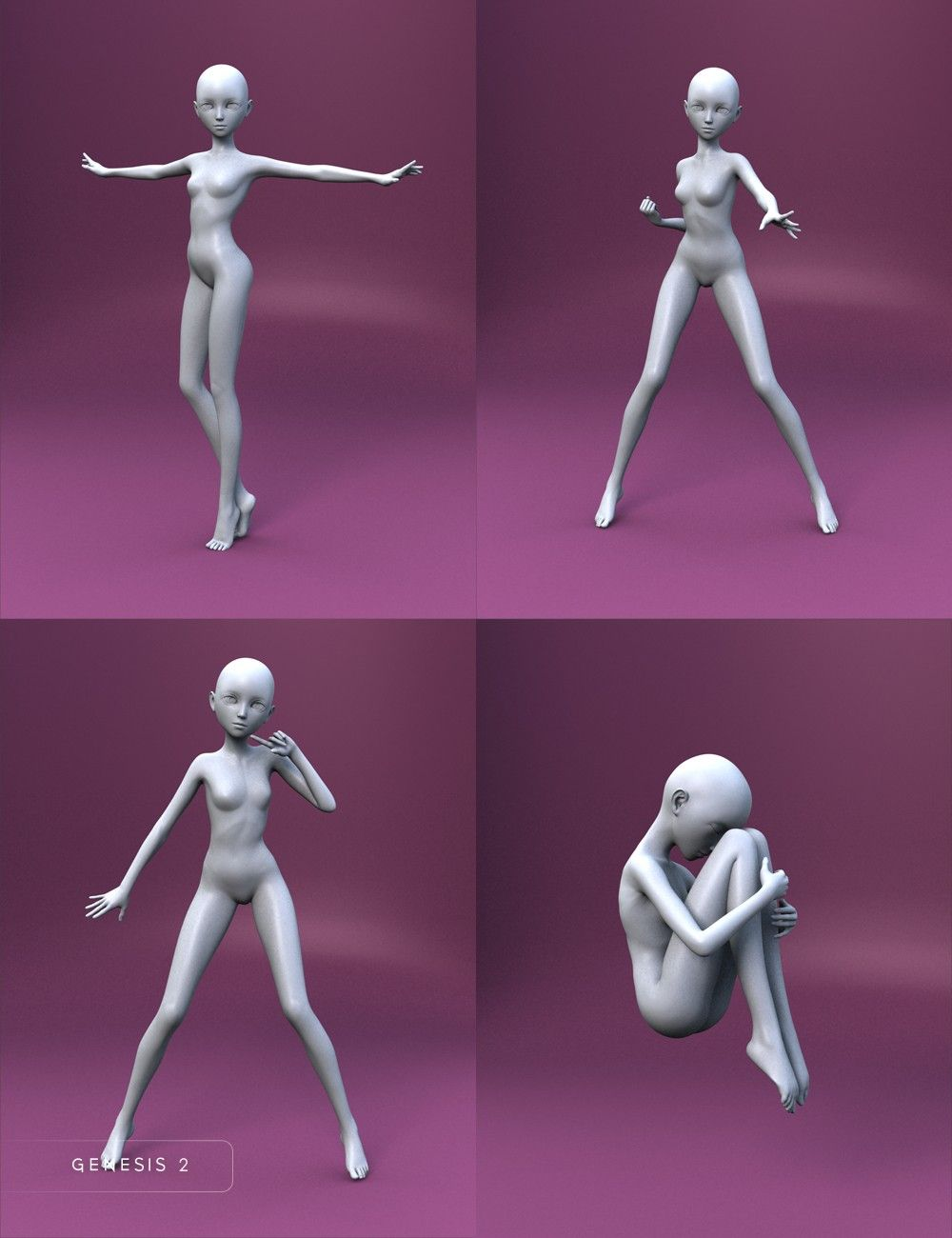 Bell Anime Poses For Keiko 6 And Aiko 6 3d Models And 3d Software By Daz 3d Anime Poses Art Reference Poses Art Poses
