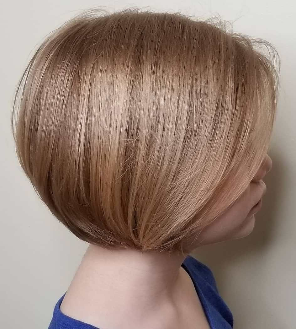 Chin Length Rounded Bob For Girls Bob Haircut For Girls Girl Haircuts Girls Short Haircuts