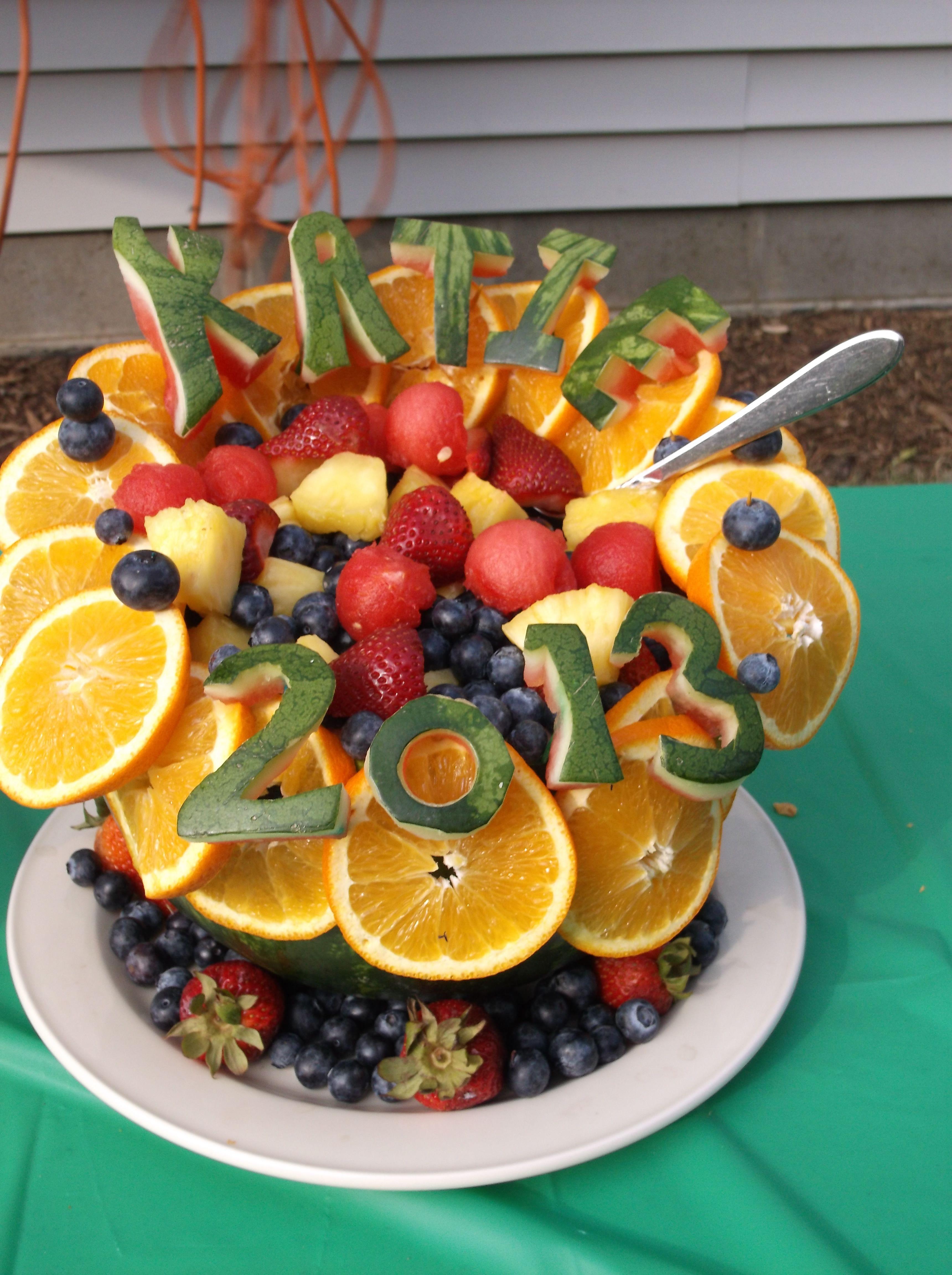 Graduation Party Fruit Bowl Fruit Tables Food Fruit