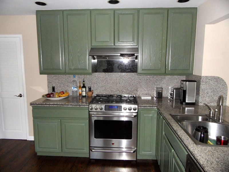 Stained Kitchen Cabinet Refinishing | Stained kitchen ...
