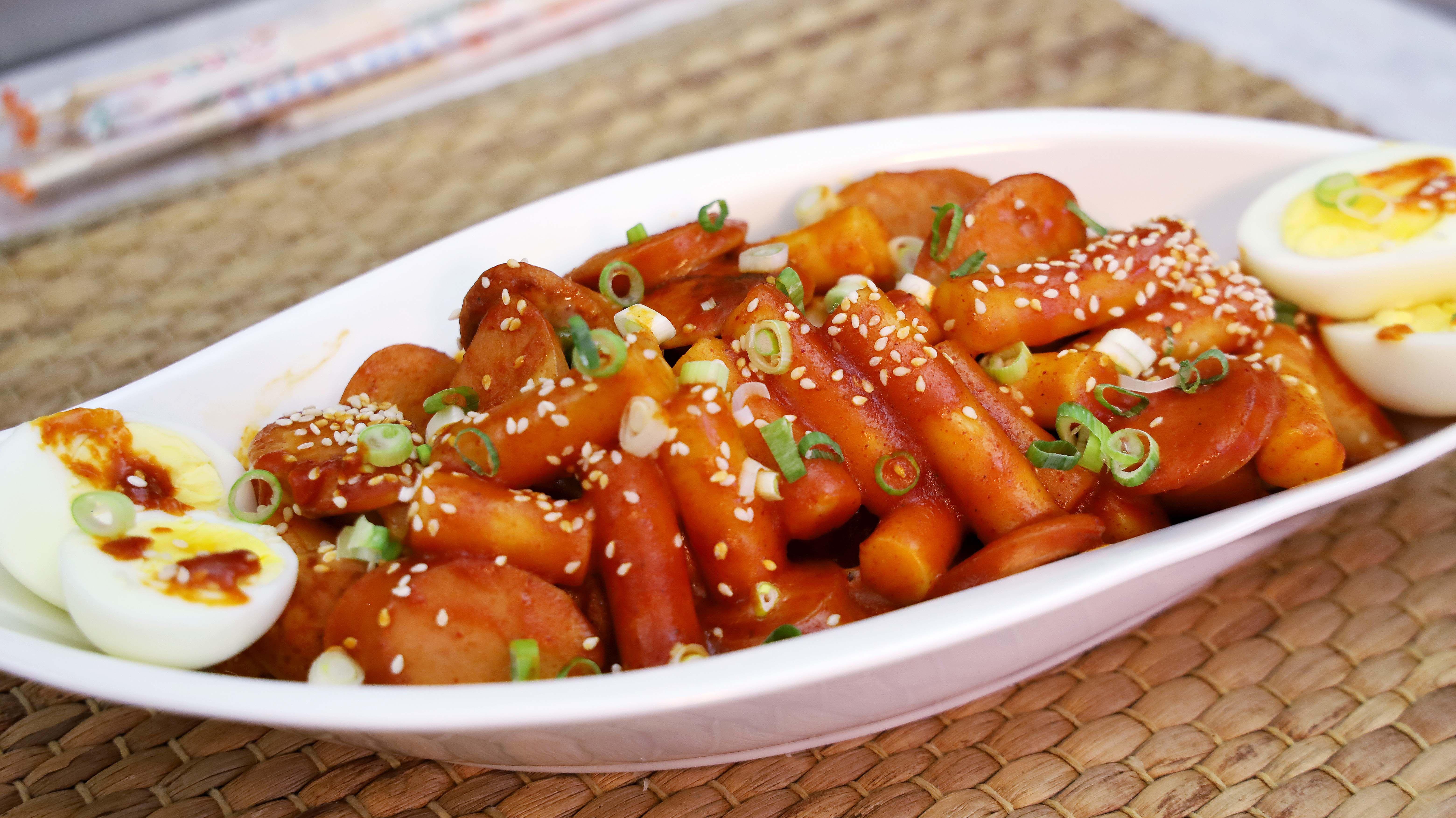 Cheesy Sausage Tteokbokki Resep Masakan Korea Saus Pasta Daging Sapi Cincang